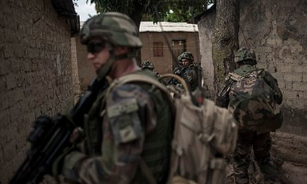 French soldiers in Bangui