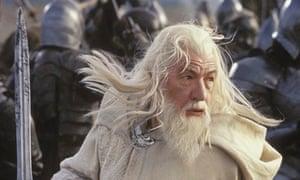 Sir Ian McKellen as Gandalf in Lord of the Rings