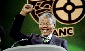 Nelson Mandela at Wembley Stadium