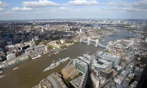 A view of London from the 69th floor of the Shard
