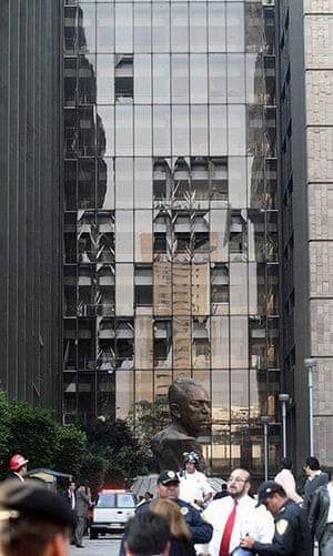 Mexico explosion: Blown out windows after the explosion
