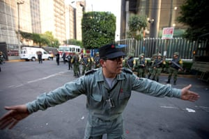 Mexico explosion: A worker from Mexico's state-owned oil company Pemex