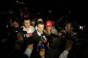 Mexico explosion: Mexican president Enrique Pena Nieto talks to the media