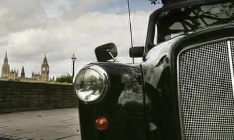 London taxi made by Manganese Bronze