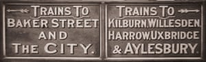 tube: Met signage early 1900s