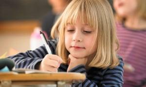 Schoolgirl Writing