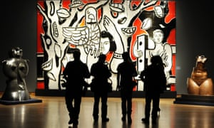 'Les femmes au Perroquet' by French artist Fernand Leger is displayed at the Impressionist and Modern Art and the Art of the Surreal press view in London. The work is estimated to fetch is between £300,000 to £500,000. The sale, which includes works by Picasso, Modigliani and Miro will take place on February 6.