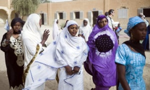 Malian girls return to their re-opened school in Timbuktu today after 10 months of islamist rule in the area.