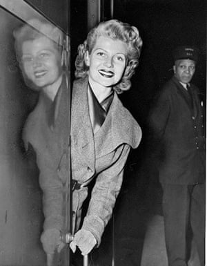 Grand Central 100 years: Actress Rita Hayworth at Grand Central Terminal.