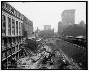 Grand Central 100 years: excavation work at the site of Grand Central Station in New York