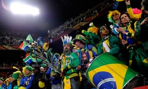 Brazil fans, Johannesburg 15/6/10