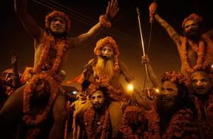 Maha Kumbh : Naga sadhus from the Niranjani sect