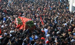 Funeral of Tunisian opposition leader Chokri Belaïd