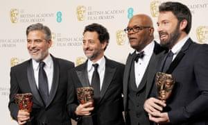 George Clooney, Grant Heslov, Samuel L Jackson and Ben Affleck at the 2013 Baftas