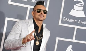 Sean Paul arrives at the 55th annual Grammy Awards.