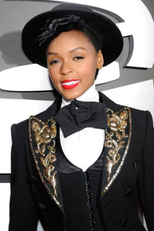 """Janelle Monae: """"wearing """"ideas"""" at the Grammys."""