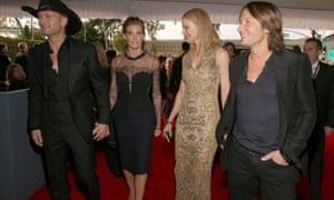Singer Tim McGraw, singer Faith Hill, actor Nicole Kidman and singer Keith Urban attend 2013 Grammys.