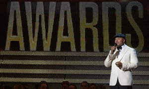 LL Cool J opens the show at the Staples Center during the 55th Grammy awards in Los Angeles, California.