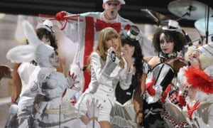 Taylor Swift opens the 2013 Grammy awards in Los Angeles.