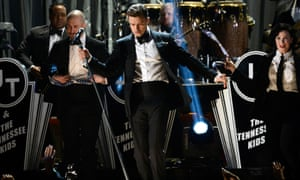 Justin Timberlake performs at the 2013 Grammy awards.