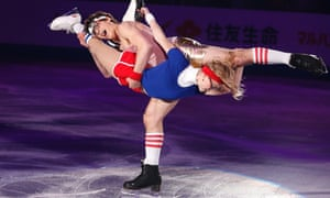 Push me pull you: Piper Gilles and Paul Poirer of Canada perform at the ISU Four Continents Figure Skating Championships in Osaka, Japan.