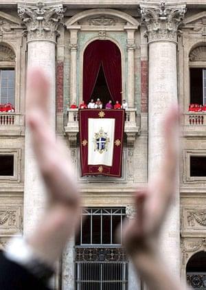pope benedict resigns: newly elected Pope Benedict XVI