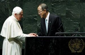 pope benedict resigns: Pope Benedict XVI at the United Nations