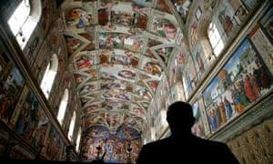 Michelangelo's fresco of the Last Judgment in the Sistine Chapel