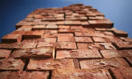 house building bricks in a pile