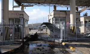 The Cilvegozu border crossing between Turkey and Syria in Hatay after nine people were killed and dozens wounded when a car exploded, damaging 15 humanitarian aid vehicles nearby. The explosion happened barely 40 metres from the crossing.