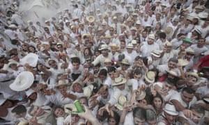 "People take part in ""Los Indianos"", a carnival in Santa Cruz de la Palma, on the Spanish Canary island of Las Palma."