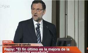 Rajoy speak at The Economist conference