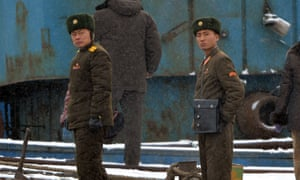 North Korean soldiers stand guard along the Yalu River at the North Korean town of Sinuiju across from the Chinese city of Dandong. North Korea has carried its third nuclear test drawing immediate condemnation from rival South Korea.