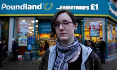 Cait Reilly outside Poundland