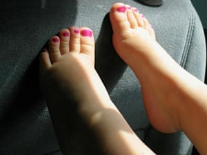 Your Pictures - Glamour: toddler's toes with pink nail varnish