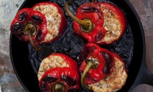 Peppers with cannellini and gorgonzola