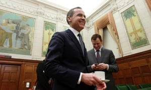 Bank of Canada governor Mark Carney ahead of his finance committee appearance. Photograph: Reuters/Chris Wattie