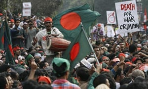 Shahbag protesters in Dhaka