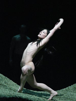 Rite of Spring: Nagisa Shirai in Ballet Preljocaj production at Sadler's Wells in 2002