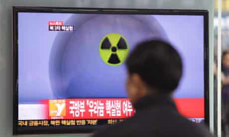 A man in Seoul watches South Korea's coverage of North Korea's nuclear test