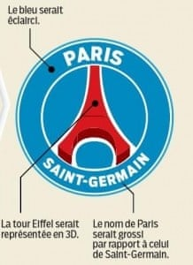 The new Paris St-Germain logo