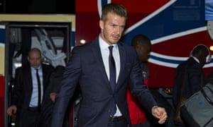 David Beckham of Paris St-Germain
