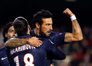 Tuesday Champions League: Paris Saint-Germain's Ezequiel Lavezzi