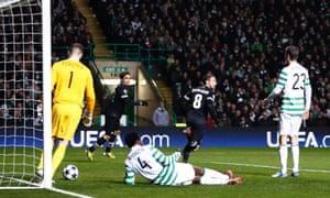 Juve score v Celtic.