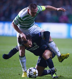 Tuesday Champions League: Scott Brown of Celtic tangles with Andrea Pirlo of Juventus