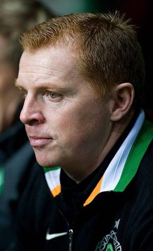 Tuesday Champions League2: Celtic manager Neil Lennon looks pensive