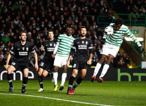 Tuesday Champions League2: Celtic's Efe Ambrose heads at goal