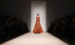 A model presents a design from the Jenny Packham fall 2013 collection during New York Fashion Week.