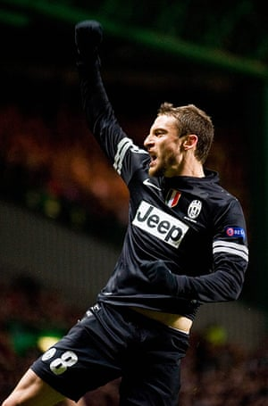 Tuesday Champions League3: Marchisio celebrates after scoring