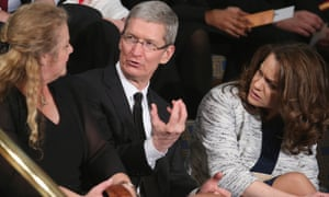 Apple CEO Tim Cook attends the state of the union address.